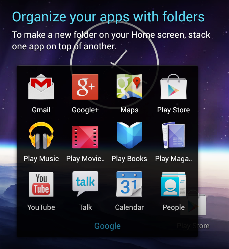Google folder