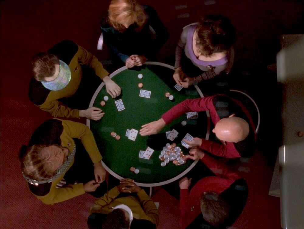 Star Trek: The Next Generation - All Good Things - Poker Game