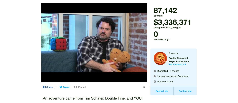 Double Fine Adventure Kickstarter