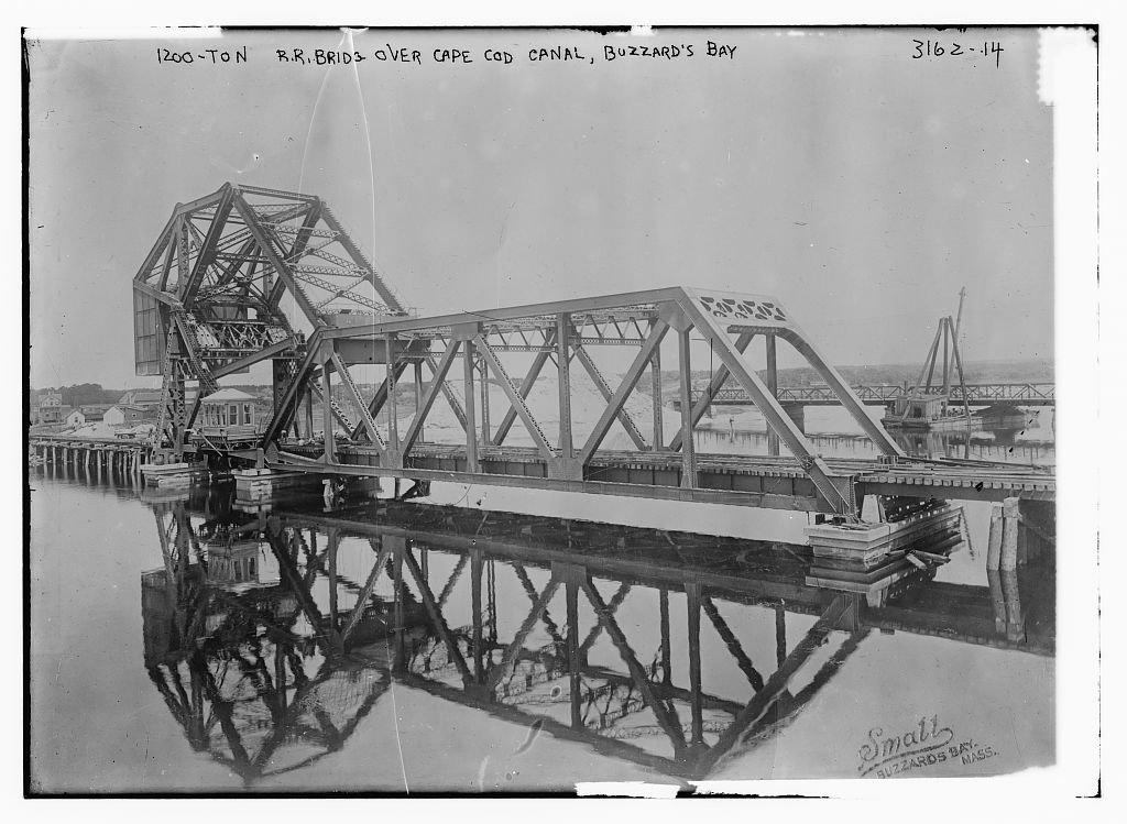 Steel Railroad Bridge,  Cape Cod Canal, Buzzard's Bay, 1910