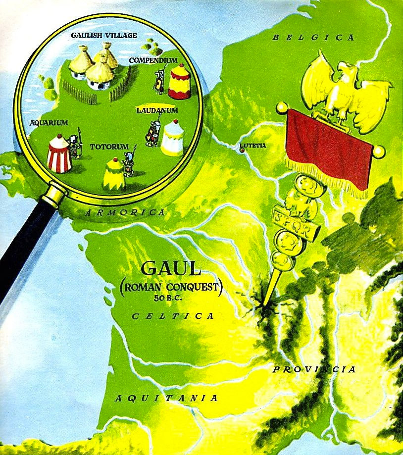 Asterix and Obélix - Map of Gaul