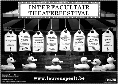 Poster for Interfacultair Theaterfestival 2007, Leuven.