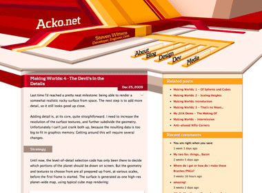 Acko.net old design