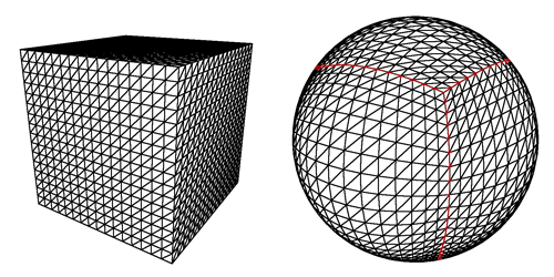 Mapping a cube to a sphere