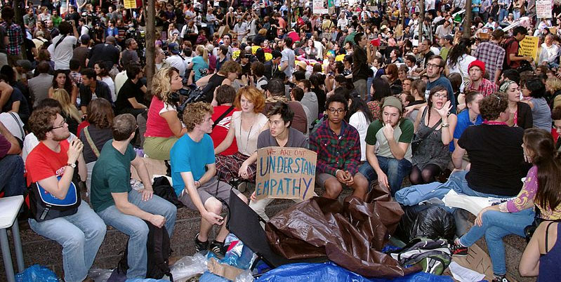 Scene from Occupy
