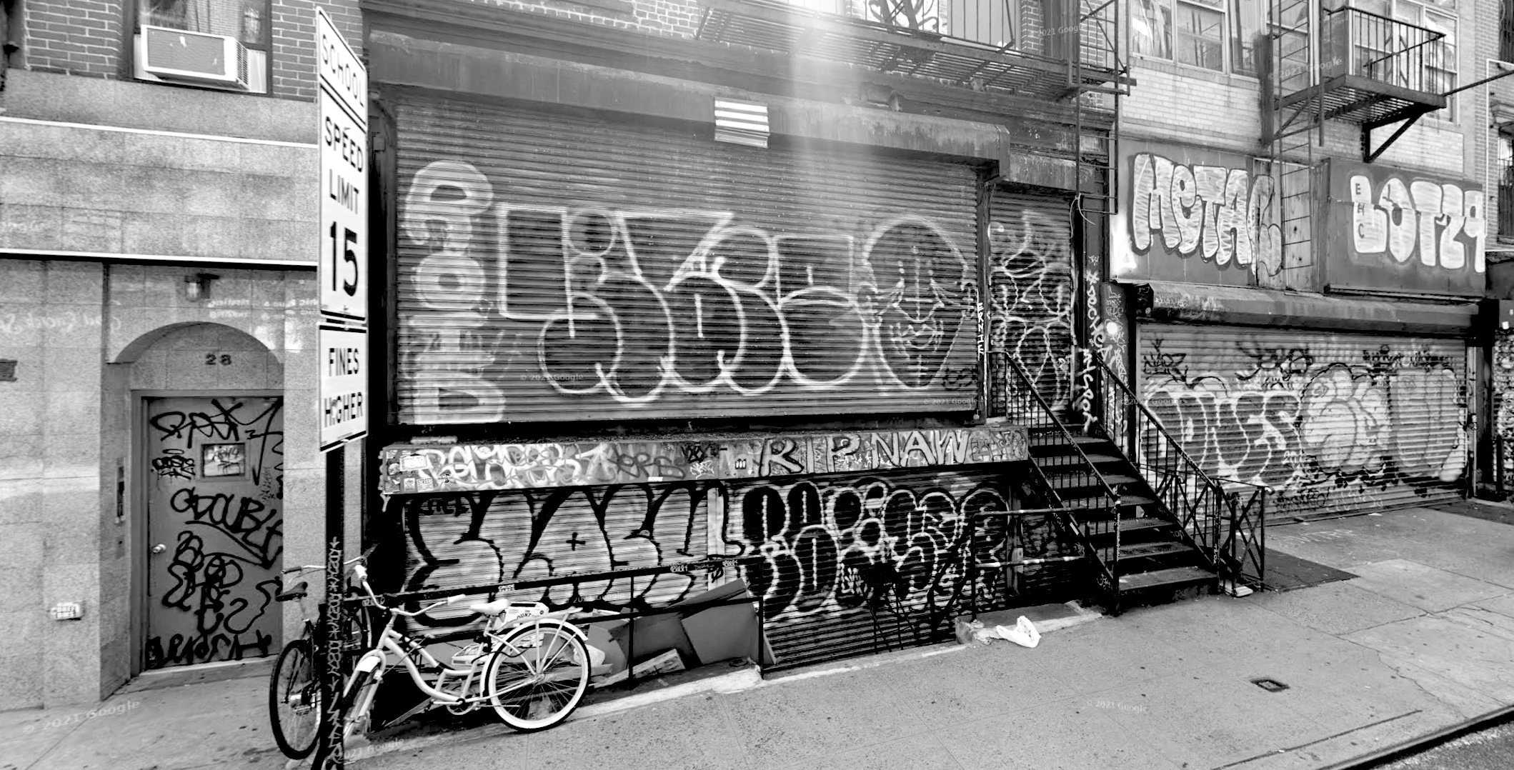 graffiti near school in New York