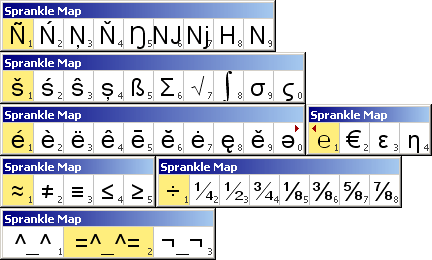 Example of Sprankle Character Map