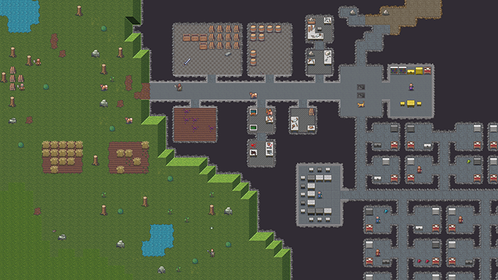 a modernized version of dwarf fortress